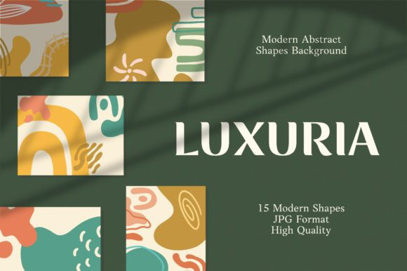 Print on Demand: Luxuria - Abstract Background Graphic Backgrounds By goodjavastudio