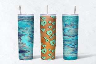 Print on Demand: Marble Paint 20oz Skinny Tumbler Graphic Textures By NatashaPrando