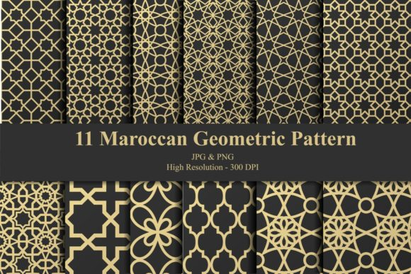 Maroccan Geometric Pattern Bundle Graphic Patterns By creation