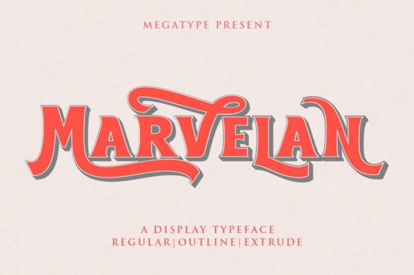 Print on Demand: Marvelan Display Font By Megatype