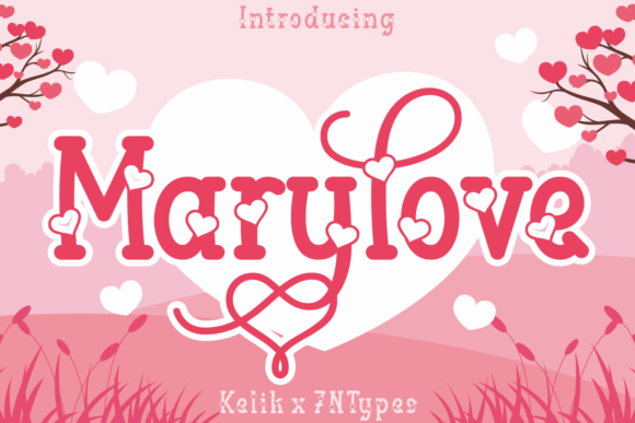Print on Demand: Marylove Decorative Font By Kelik - 7NTypes