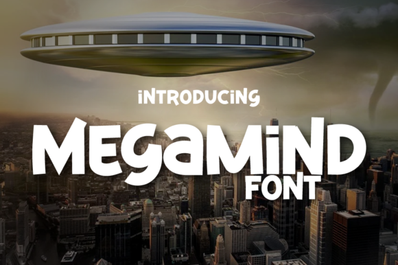 Print on Demand: Megamind Display Font By twinletter
