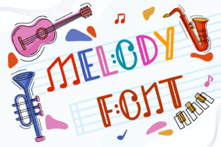 Print on Demand: Melody Decorative Font By OWPictures