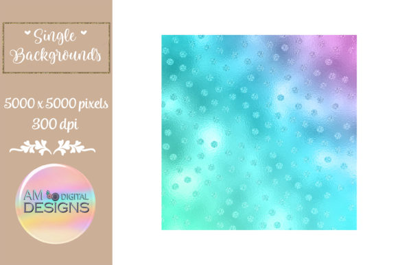 Mermaid Gradient Foil Polka Dots Graphic Backgrounds By AM Digital Designs