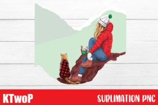 Print on Demand: Merry Christmas Sublimation,Cat and Me Graphic Illustrations By KtwoP