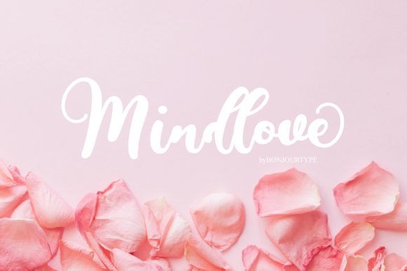Print on Demand: Mindlove Script & Handwritten Font By BonjourType