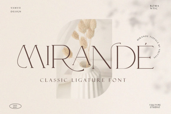 Print on Demand: Mirande Serif Font By vultype