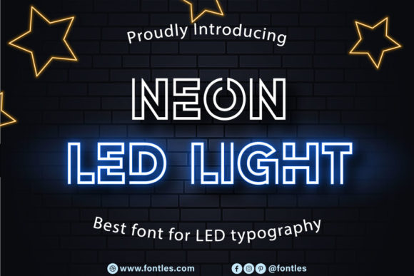 Print on Demand: Neon Led Light Display Font By Crafty Files