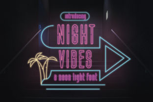 Print on Demand: Night Vibes Display Fuente Por TypeFactory