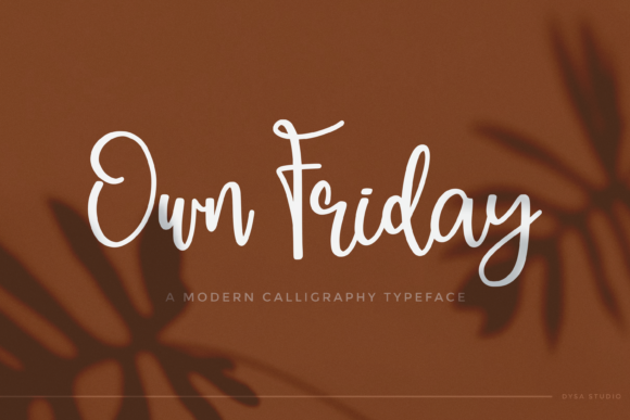 Print on Demand: Own Friday Script & Handwritten Font By DYSA Studio