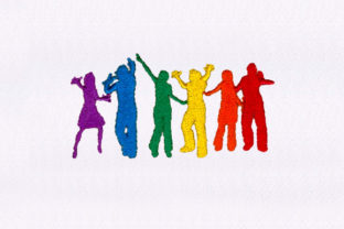 Partying Silhouettes Holidays & Celebrations Embroidery Design By DigitEMB