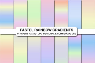 Pastel Rainbow Gradients Digital Papers Graphic Backgrounds By bestgraphicsonline