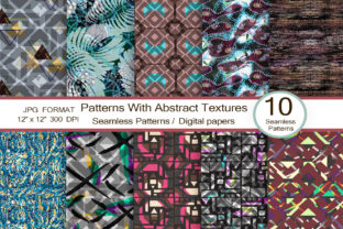 Patterns with Abstract Textures Graphic Patterns By FolkStyleStudio