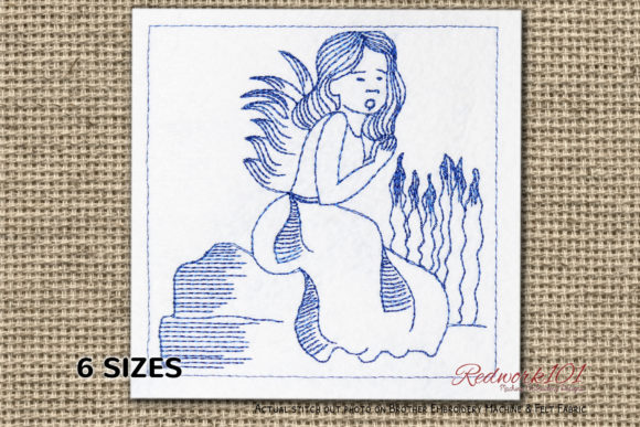 Peace Angels Redwork Fairy Tales Embroidery Design By Redwork101