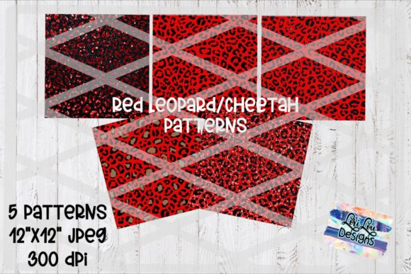 Print on Demand: Red Leopard Cheetah Pattern Backgrounds Graphic Backgrounds By Lori Lou Designs