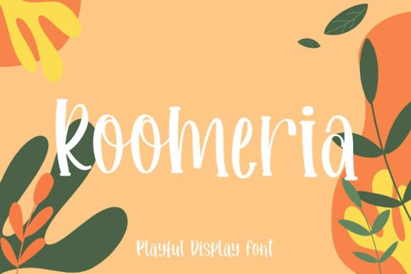 Print on Demand: Roomeria Display Font By Temp here