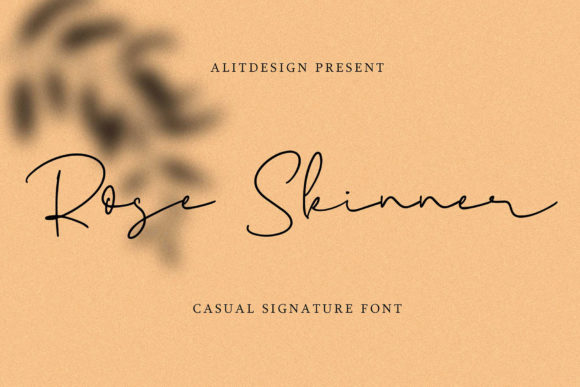 Print on Demand: Rose Skinner Script & Handwritten Font By Alit Design