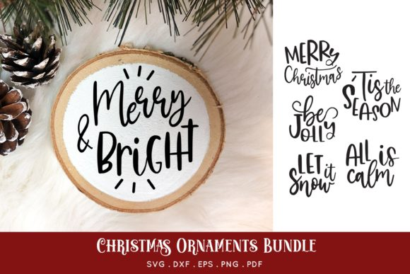 Round Christmas Ornament Bundle Vol.1 Grafik Plotterdateien von peachycottoncandy