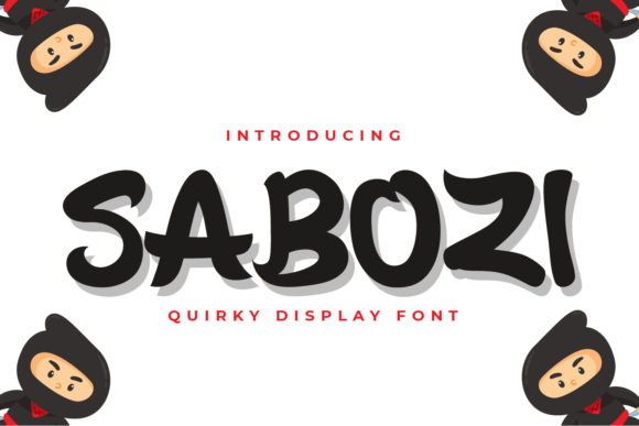 Print on Demand: Sabozi Display Font By OKEVECTOR