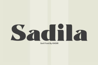 Print on Demand: Sadila Serif Font By mrkhoir012