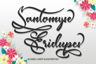Print on Demand: Santomyse Eridupes Script & Handwritten Font By Sealoung