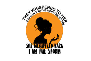 Print on Demand: She Whispered Back EPS+SVG+JPG+PNG Graphic Print Templates By Ifter Nishat