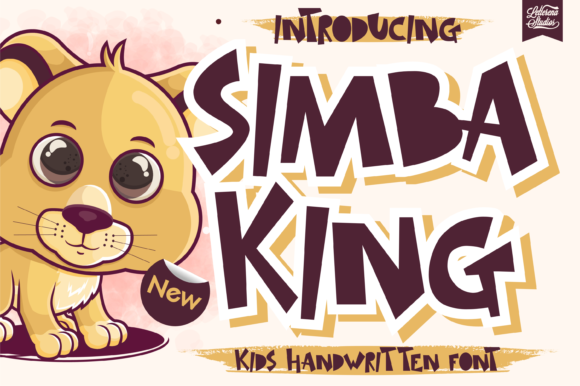 Print on Demand: Simba King Display Font By letterenastudios