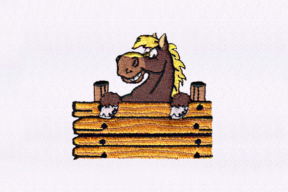 Smiling Horse Horses Embroidery Design By DigitEMB