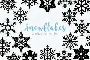 Snowflakes Clip Art Graphic Illustrations By peachycottoncandy