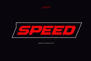 Print on Demand: Speed Display Font By artyway
