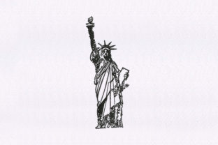 Statue of Liberty North America Embroidery Design By DigitEMB