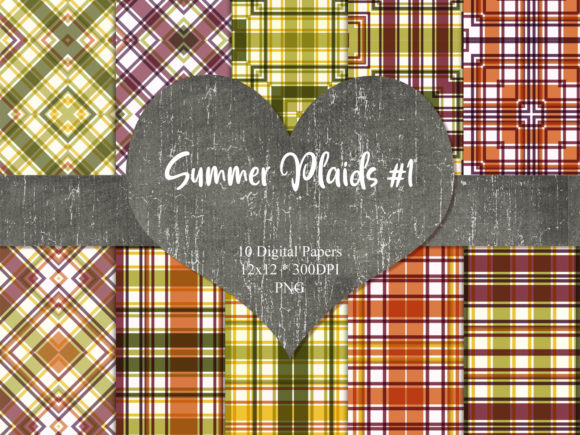 Print on Demand: Summer Plaid 1 Graphic Patterns By Whiskey Black Designs
