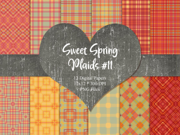Print on Demand: Sweet Spring Plaids 11 Graphic Patterns By Whiskey Black Designs