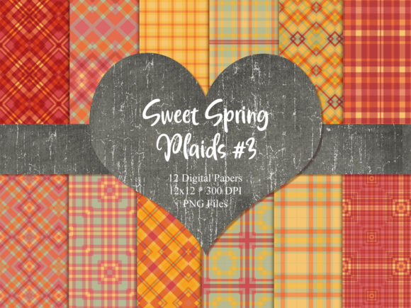 Print on Demand: Sweet Spring Plaids 3 Graphic Patterns By Whiskey Black Designs