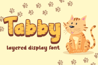 Print on Demand: Tabby Display Font By attypestudio
