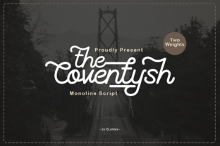 Print on Demand: The Coventysh Script & Handwritten Font By DLetters.std