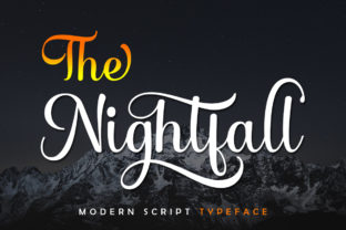 Print on Demand: The Nightfall Manuscrita Fuente Por Skinny type