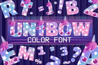 Print on Demand: Unibow Color Fonts Font By JM_Graphics