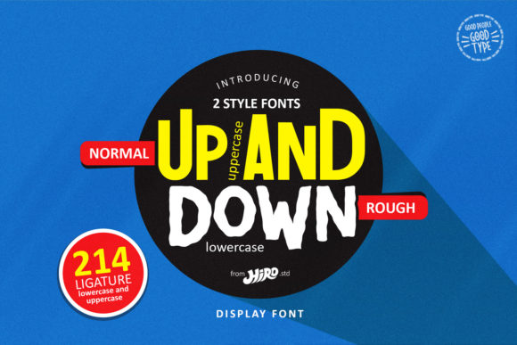 Print on Demand: Up and Down Display Font By HIRO.std