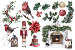 Print on Demand: Watercolor Christmas Magic Classic Graphic Illustrations By Busy May Studio 3