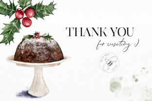 Print on Demand: Watercolor Christmas Treats Festive Food Graphic Illustrations By Busy May Studio 6