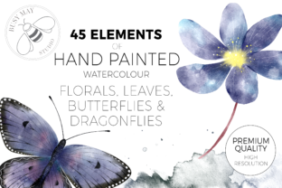 Print on Demand: Watercolor Hand Painted Flowers Leaves Graphic Illustrations By Busy May Studio 2