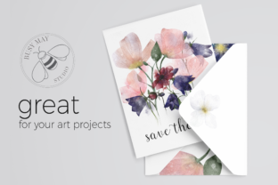 Print on Demand: Watercolor Hand Painted Flowers Leaves Graphic Illustrations By Busy May Studio 3