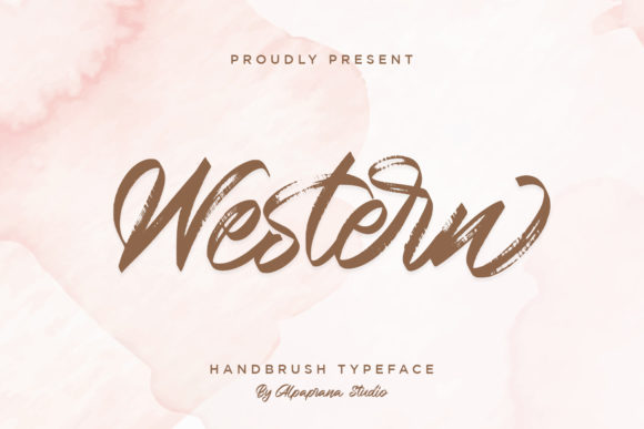 Print on Demand: Western Script & Handwritten Font By alpapranastudio