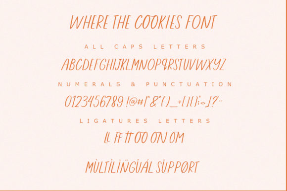 Where the Cookies Font Preview