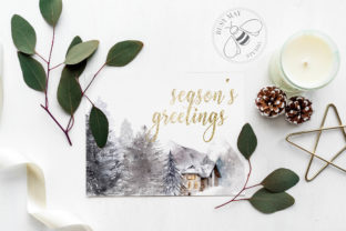 Print on Demand: Winter Illustrations Clip Art Watercolor Graphic Illustrations By Busy May Studio 2
