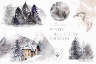 Print on Demand: Winter Illustrations Clip Art Watercolor Graphic Illustrations By Busy May Studio 5