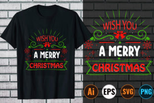 Wish You a Merry Christmas Graphic Print Templates By Design Store