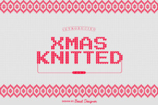 Print on Demand: Xmas Knitted Decorative Font By Beast Designer