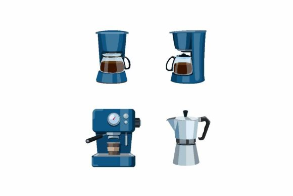 Print on Demand: Coffee Machine Cafe or Kitchen Symbol Graphic Objects By aryo.hadi